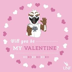 Happy Valentine's Day from Ozzie and all of us at UNF!