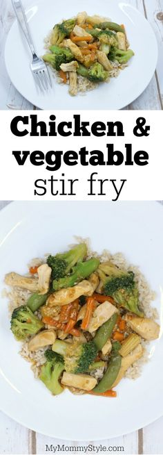 Chicken and vegetable stir fry - My Mommy Style