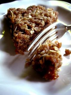 vegan Raw Date Squares (dates, orange, pecan/walnut, oats)
