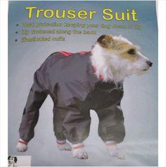 Cosipet Trouser Suit 25 cm / 10 Inch Black Suitable for Yorkie Lhassa Apso Sizes