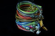 Zipper Bracelet with Charm by CradleRockingMama on Etsy, Ooh! Fun!