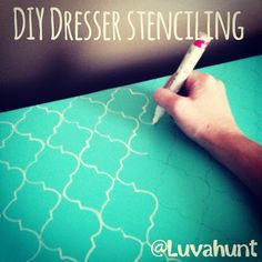Mommy Makes Things : DIY Dresser Stenciling @Marissa Kinzie