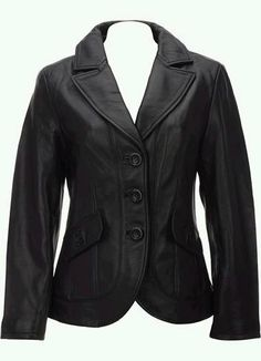 women Black handmade pure leather jacket in by customdesignmaster, $149.99