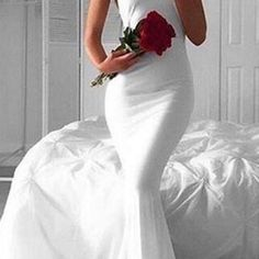 A400 simple halter long sleeveless white mermaid prom dress,cheap prom dress,evening gowns for teens