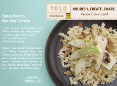 YOLO Colorhouse Recipe Color Card:  Fancy French Mac and Cheese