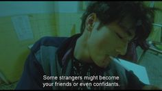 """Fallen Angels Wang Jiawei said: """"Sometimes I met a person yesterday . Fallen Angel Movie, Fallen Angels 1995, Chungking Express, Takeshi Kaneshiro, Good Sentences, Mixed Feelings Quotes, Film Inspiration, Movie Lines, Film Quotes"""