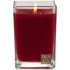 Aromatique Home Fragrance Medium Holiday Cube Candle ($18) ❤ liked on Polyvore featuring home, home decor, candles & candleholders, smell of christmas, aromatique candles, glass candlestick holders, glass home decor, scented candles and fragrance candles