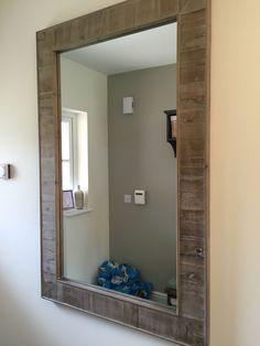 Wooden effect mirror