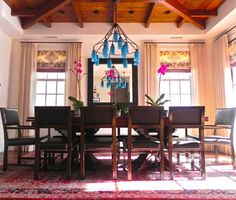 Colored Chandelier Design Ideas Pictures Remodel And Decor Sara From Canopy Designs Blindsgalore Contemporary Dining Rooms