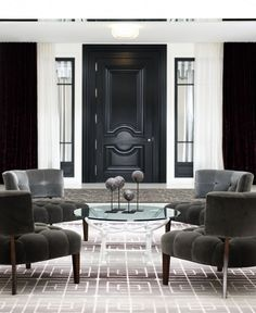 New York Lounge Design by Jamie Herzlinger Interiors