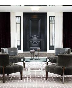 New York Lounge Design by Jamie Herzlinger Interiors