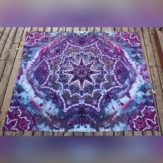 Tie Dye Mandala Tapestry by ChromaticKiddos on Etsy