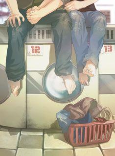Laundromat (GIF) by L-a-m-o-N