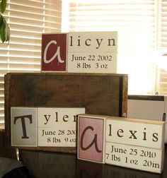 Name blocks Adding time of birth as well