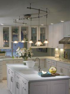 Illuma flex track lighting installed in a kitchen from progress illuma flex 72 track 250w transformer pendant with glass stem in aloadofball Choice Image