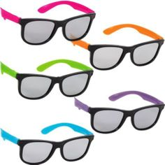 photo booth supplies Totally 80s Neon Sunglasses 10ct - Party City