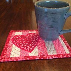 Valentines Mug Rug Pattern | Craftsy
