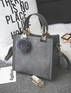 Women's Suede Leather Tote Bag