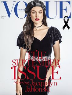 Jacquelyn Jablonski featured on the Vogue Thailand cover from September 2017