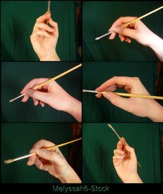 Hand Pose Stock - Holding Paintbrush by ~Melyssah6-Stock on deviantART, Hand Poses References ,Inspiration and Resources on How to Draw Hands, Hand Poses Studies , Pose References @ CAPI ::: Create Art Portfolio Ideas for Art Students at www.milliande.com