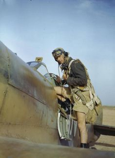Spit Pilot, North Africa?