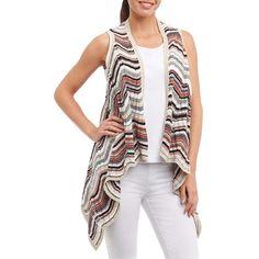 Foxcroft Women's Devon Knit Vest (€68) ❤ liked on Polyvore featuring outerwear, vests, linen, foxcroft, open front vest, sleeveless knit vest, vest waistcoat and knit vest
