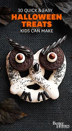 Halloween treats: http://www.bhg.com/halloween/recipes/halloween-treats-kids-can-make/