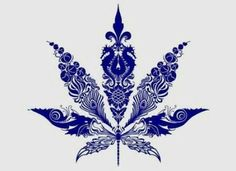 Marijuana leaf tattoo design. Super cute!