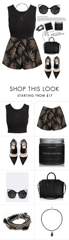"""Untitled #878"" by nikola-sperlikova ❤ liked on Polyvore featuring H&M, Finders Keepers, ZooShoo, Givenchy, Pieces and Vanessa Mooney"