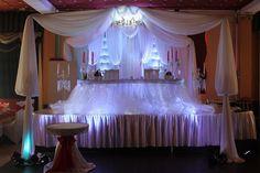 Украшение свадебного зала в белом цвете, в кафе Свята