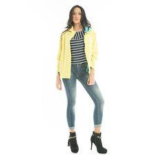 #Felpa in #neoprene, #maglia a #righe e #jeans skinny  #GianVargian #ss16