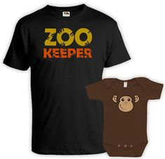 Matching Shirts Dad And Baby  - Price advertised includes a 2 Piece Matching Set. - Default Color is Black for Dad and Brown for the Baby - If you