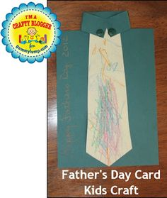 father's day tie craft pattern