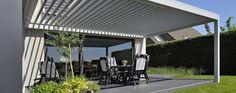 Energiebesparing door een terrasoverkapping, zonneluifel of screen / Réduction d'énergie grâce aux pergolas bioclimatiques, stores bannes et screens