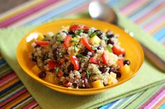 Mango Quinoa Salad recipe by Barefeet In The Kitchen