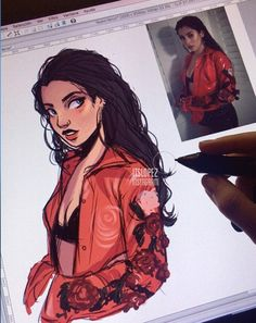 very sketchy drawing but oh honeyyyyyy you're slaying 🌹 Portrait Cartoon, People Art, Character Drawing, Character Design Inspiration, Art Sketchbook, Drawing People, Anime Art Girl, Art Tutorials, Cartoon Art