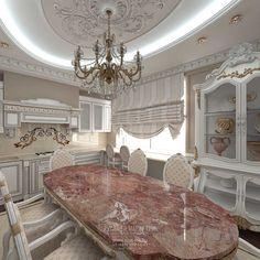 Дизайн кухни-столовой. Фото 2016  http://www.line-mg.ru/dizayn-bezhevoy-kuhni-2016