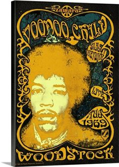 jimi hendrix voodoo child | Jimi Hendrix Woodstock Voodoo Child/Slight Return Photo Canvas Print ...