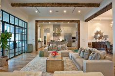 I just LOVE rustic mixed with modern...and of course the touches of tourquoise!  from House of Turquoise