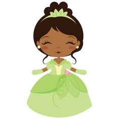 Tiana - The Princess and the Frog Disney Princess Babies, Frog Princess, Baby Disney, Pretty Drawings, Beautiful Drawings, Princesa Tiana Disney, Felt Dolls, Paper Dolls, Cute Gifs