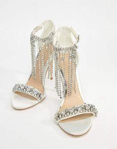 6735d8280 ASOS HONOR Premium Bridal Embellished Heeled Sandals New Trend Shoes