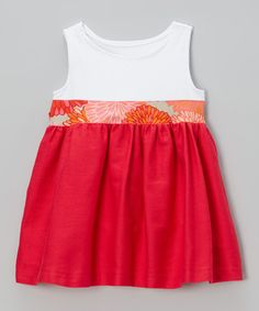 Another great find on #zulily! Red & White Kimberly Dress - Toddler & Girls by Mary Helen Clothing #zulilyfinds