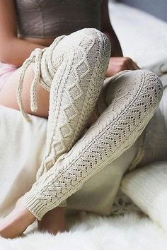 Knit Over Knee High Thigh Socks – myslady Thigh High Socks, Knee Socks, Thigh Highs, Sexy Socks, Socks And Heels, Bandana Print, Striped Socks, Knitting Socks, Latest Fashion For Women
