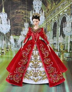 97-1. OOAK dress 'Catherine' for Enchanted Dolls by Natalia Sheppard, via Flickr