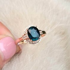Items similar to quartz ring crystal ring gift Blue tourmaline ring Engagement Ring Blue Tourmaline Ring With Diamonds In Gold on Etsy Crystal Flower, Crystal Ring, Blue Tourmaline, Personalized Rings, Quartz Ring, Ring Engagement, Diamond Clarity, Natural Crystals, Stone Jewelry