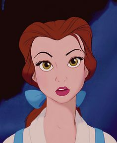 One of the most incredible things about the Beauty and the Beast animated film was Belle's facial expressions... so realistic.