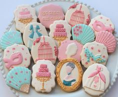 Marie Antoinette themed cookies by Miss Biscuit