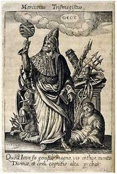 Hermes Trismegistus, perceived by Neoplatonists as the presiding deity of Alchemy . . . — Buy this art print at AllPosters.com