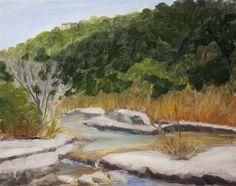 """The Falls"" - Original Fine Art for Sale - © Jane Frederick"