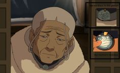 Did Aang carve her new one? That would be so sweet.